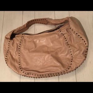Kooba studded leather hobo with dust bag
